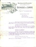 Manufacture De Chaussures. Depasse & Lorre. Fougères. 1922. - France