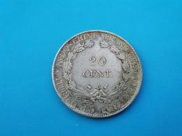 INDOCHINE   20 Cents  1929   - Faux - - Kolonien