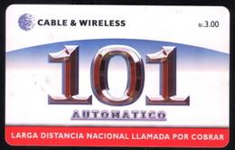 PANAMA PHONECARD C & W 101 AUTOMATICO CHIP GEM3 USED B/3.00 - Panamá