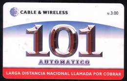 PANAMA PHONECARD C & W 101 AUTOMATICO CHIP GEM3 USED B/3.00 - Panama