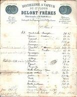 Distillerie à Vapeur De Saint Flour. Delort Frères Fabricants. Sirops. Vins Fins. Fabrique De Caramel. Avant 1900. - France