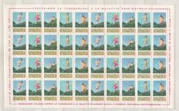 1974 - 37^ Campagna Nazionale Di Prevenzione Della Tubercolosi Foglio Cpl. Da 40v. Nuovi** - Erinnofilia