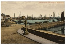 (50) Very Old Postcard - UK - 1913 - Anstruther Port - Fife