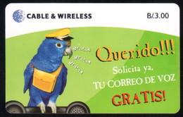 PANAMA PHONECARD C & W QUERIDO CHIP GEM3 USED B/3.00 - Panama