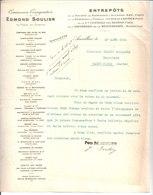 Edmond Soulier. Entrepots De La Société Des Raffinerie & Sucrerie Say. Paris. Aurillac. 1914 - France