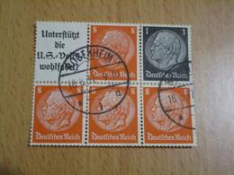1 BLOC DE 5 TIMBRES DEUTSCHES REICH HINDENBURG 1937 - Deutschland