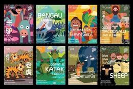 Singapore 2018 Mih. 2555/62 Animals In Children's Nursery Rhymes. Fauna MNH ** - Singapore (1959-...)