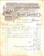 Henry Louvet. Imprimerie Notre Dame. Lithographie Typographie Autographie. Gravure.Paris 1895. - France