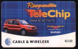 PANAMA PHONECARD C & W RASPANDITO TELECHIP 1 CHIP GEM3 USED B/3.00 - Panama
