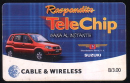 PANAMA PHONECARD C & W RASPANDITO TELECHIP 2 CHIP GEM3 USED B/3.00 - Panama