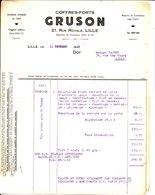 Coffres Forts Gruson. Maison Fondée En 1850. Lille. 1942. - France