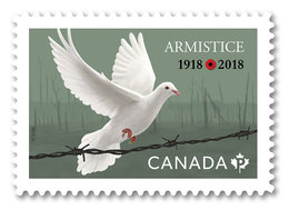 2018 Canada World War I Armistice Single Stamp From Booklet MNH - Carnets