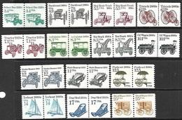 US   1985-9   Sc#2123-36 Set/pairs  MNH   Face Value $2.90 - Etats-Unis