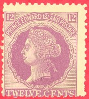 Canada Prince Edward Island # 16 Mint N/H VG - Queen Victoria ''Cents'' Issue - Prince Edward Island