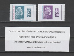 FRANCE / 2018 / Y&T N° 5270/5271 ** : Marianne D'YZ (surchargée) TVP Europe + Monde X 1 Paire - France