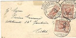 "1911- LIBYE - Tripolitania -  1911- Petite Enveloppe Affr. T P D'Italie "" Tripoli Di Barberia "" Canc. Posta Militare - Libya"