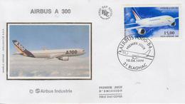 Enveloppe  FDC  1er Jour   FRANCE   Avion   AIRBUS  A  300   BLAGNAC    1999 - FDC
