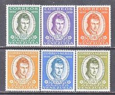 Venezuela  743-5, C 709-11   **   HUMBOLDT - Venezuela