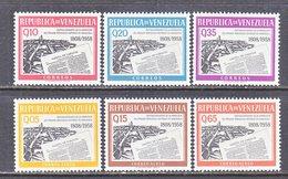 Venezuela  751-3, C 712-14   **   NEWSPAPER - Venezuela