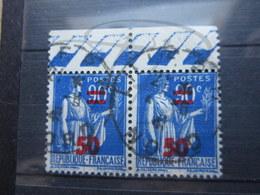"""VEND BEAUX TIMBRES DE FRANCE N° 482 EN PAIRE + BDF , CACHET """" LILLE R.P. """" !!! - Used Stamps"""