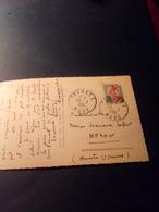 Cachet Pointillé Sur CP TRAUSSE  AUDE 1961 Belle Frappe - Marcophilie (Lettres)