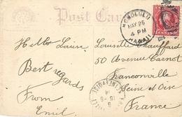 1914- Postcard Fr. 2 Cents Cancelled HONOLULU / HAWAÏ  To France - Hawaii