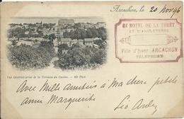Arcachon,vue Générale De La Terrasse Du Casino 1896 - Arcachon