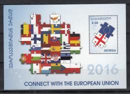 Georgia Georgien 2016 Mi. Cennect With European Union - Georgia