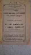 LIVRET NATIONAL CAISSE NATIONALE D'EPARGNE 1921 - Bank & Insurance