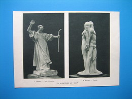 (1935) Sculptures : C. GRANGE - R. RIVOIRE - JANE BLANCHOT - JEAN BOUCHER - A. MAILLARD - POPINEAU - Old Paper