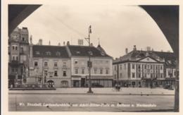 AK - NÖ - WR. NEUSTADT - Laubendurchblick Am Adolf Hitler Platz Mit Rathaus 1938 - Wiener Neustadt