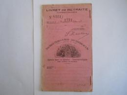 Livret De Retraite Lijfrenteboekje ASLk CGER 5 De Ligne 1906 Extrait De Compte De Retraite - Banque & Assurance