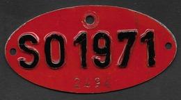 Velonummer Solothurn SO 71, Veloanhänger Rarität ! - Plaques D'immatriculation