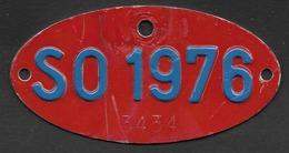 Velonummer Solothurn SO 76, Veloanhänger Rarität ! - Plaques D'immatriculation