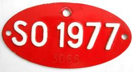 Velonummer Solothurn SO 77, Veloanhänger Rarität ! - Plaques D'immatriculation