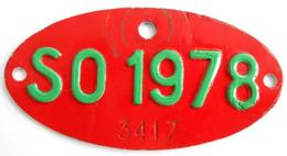 Velonummer Solothurn SO 78, Veloanhänger Rarität ! - Plaques D'immatriculation