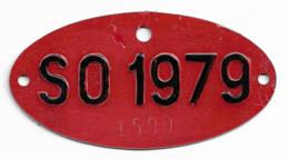Velonummer Solothurn SO 79, Veloanhänger Rarität ! - Plaques D'immatriculation