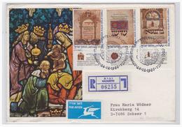 Israel (003004) Einschreiben Luftpostbrief Gelaufen Nach Scheer (Deutschland) - Israel