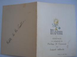 Menu Ternat Juli 1950 Communie Lutgard Aelbrecht Enkele Vlekken - Menus