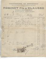 Facture 1904 / 52 POULANGY / ROBINET & CLAUSSE/ ROBINOT-MILLOT / Manufacture De Bonneterie - France