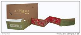 2013 Ancient Embroidery Booklet Flower Bird Peacock Butterfly Crane Bat Duck Plum Lotus Mushroom Fungi Orchid Unusual - Cultures