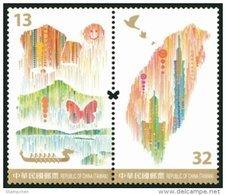 Taiwan 2016 Treasure Island Stamps Butterfly Mount Lake Taipei 101 Dragon Boat Sky Lantern Map - 1945-... Republic Of China