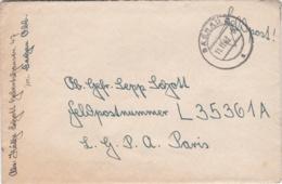 German Feldpost WW2: To Normandy In France - Fallschirmjäger-Regiment 1 (Stab I) FP L35361A LGPA Posen - Militaria