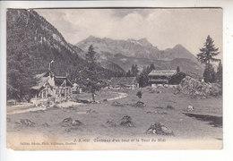 Sp- SUISSE - CHAMPEX D'en Haut Et La Dent Du Midi - Timbre - Cachet - 1911 - VS Valais