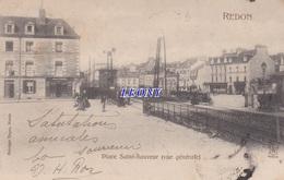 CPA De REDON (56) - PLACE SAINT SAUVEUR - ANIMATIONS - 1903 - Sonstige Gemeinden