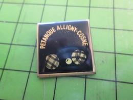 812h Pin's Pins / Belle Qualité Et TB état !!!! : THEME SPORTS / PETANQUE CLUB ALLIGNY-COSNE BOULES COCHONNET - Boule/Pétanque