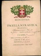 106 CAPUA 1927 28 , PAGELLA SCOLASTICA CON FASCI - Diplomi E Pagelle