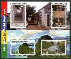 MAURITIUS 2011** - World Heritage - Block Di 4 Val. MNH, Come Da Scansione. - Mauritius (1968-...)