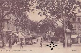 NICE Boulevard GAMBETTA - (Tramway à L'angle De La Rue De France). - Transport Urbain - Auto, Autobus Et Tramway