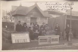 BEZIERS CARTE PHOTO JOSEPH ARNAL EXPOSITION DE BEZIERS 1920 CHALET AGLOMERES DIPLOME D HONNEUR MEDAILLE D ARGENT RARE - Beziers